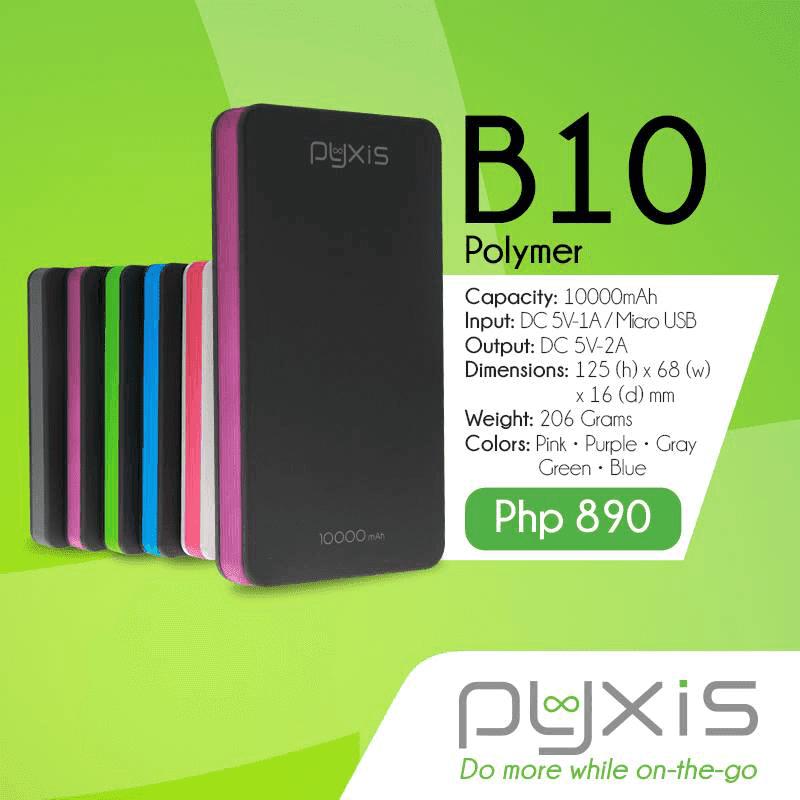 Pyxis B10 10000 mAh Li Pol powerbank