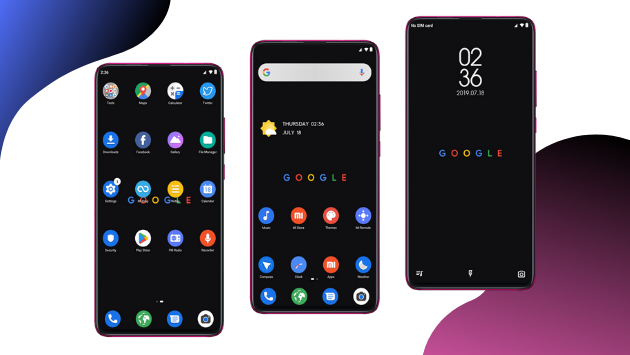 Dark pixel theme for MIUI