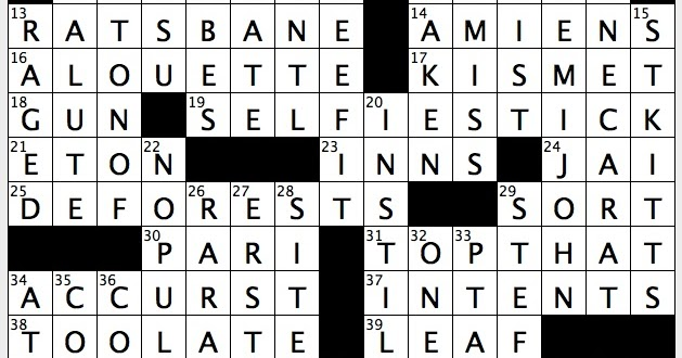A Hairstyle Crossword: Rex Parker Does The NYT Crossword Puzzle: Soviet Co-op