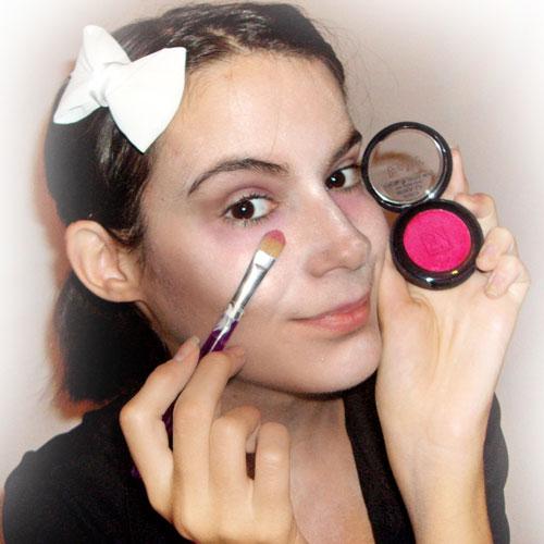maquillaje sencillo para disfraz de zombie paso 3 monika sanchez