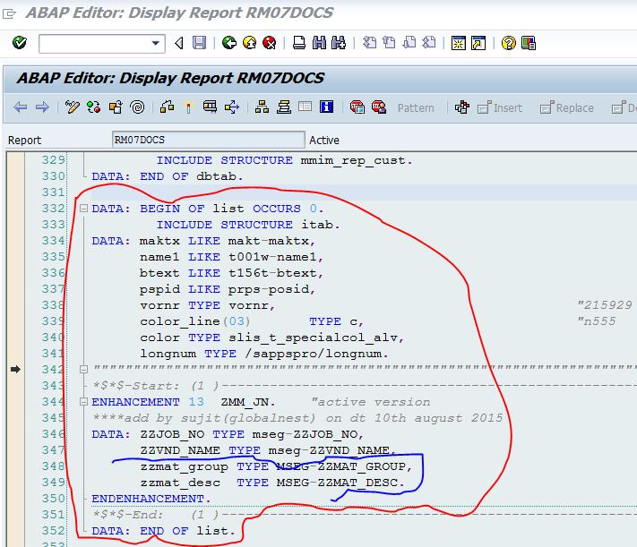 SAP ABAP Consultant Career: Adding Custom Field In MB51