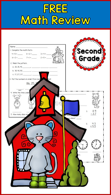 Math Spiral review for second grade