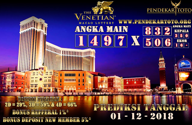 Prediksi Venetian Macao Lottery Tanggal 01 Desember 2018