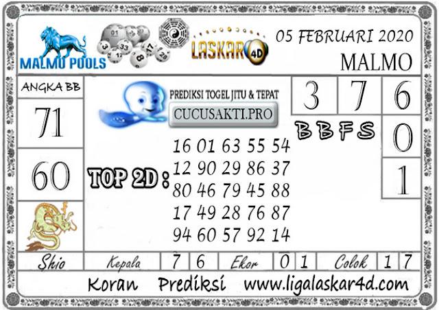 Prediksi Togel MALMO LASKAR4D 05 FEBRUARI 2020