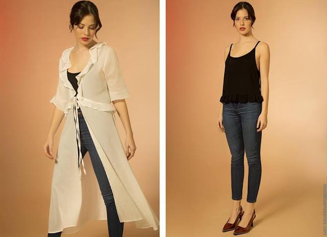 Kimonos y maxicamisas largos, sacos largos de verano 2019 moda primavera verano 2019.