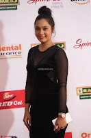 Vennela in Transparent Black Skin Tight Backless Stunning Dress at Mirchi Music Awards South 2017 ~  Exclusive Celebrities Galleries 055.JPG