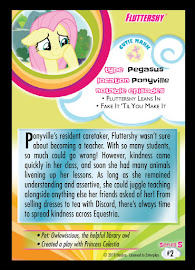 My Little Pony Fluttershy Series 5 Trading Card