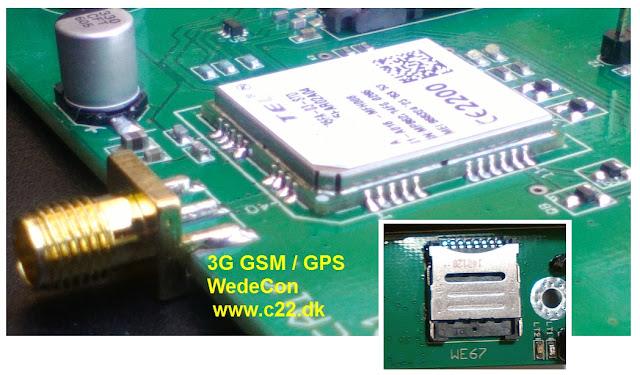 3G GSM Gateway skræddersyet GSM module - Customized R&D electronics elektronikudvikling