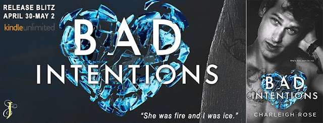 Release Blitz + My Book Review BAD INTENTIONS by Charleigh Rose