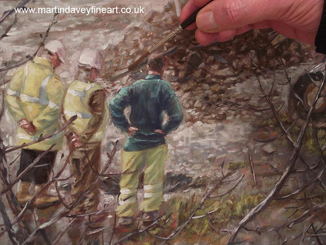 building site machine art painting Davey