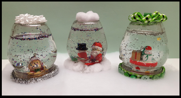 How to make quick and easy snow globes