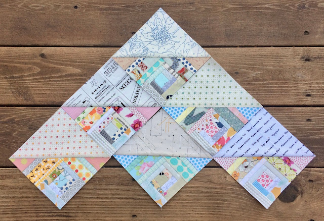 scrap quilt, low-volume quilt, foundation paper pieced half square triangles, hst, quilt, quilting, free quilt pattern