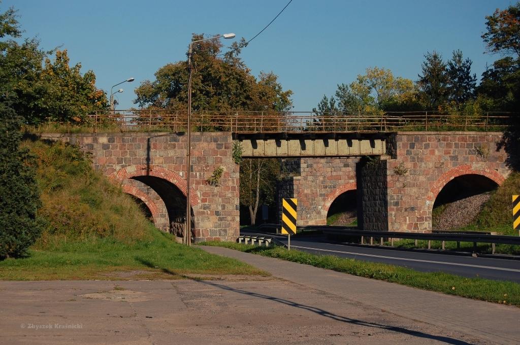 Nieczynny most kolejowy w Lidzbarku Warmińskim