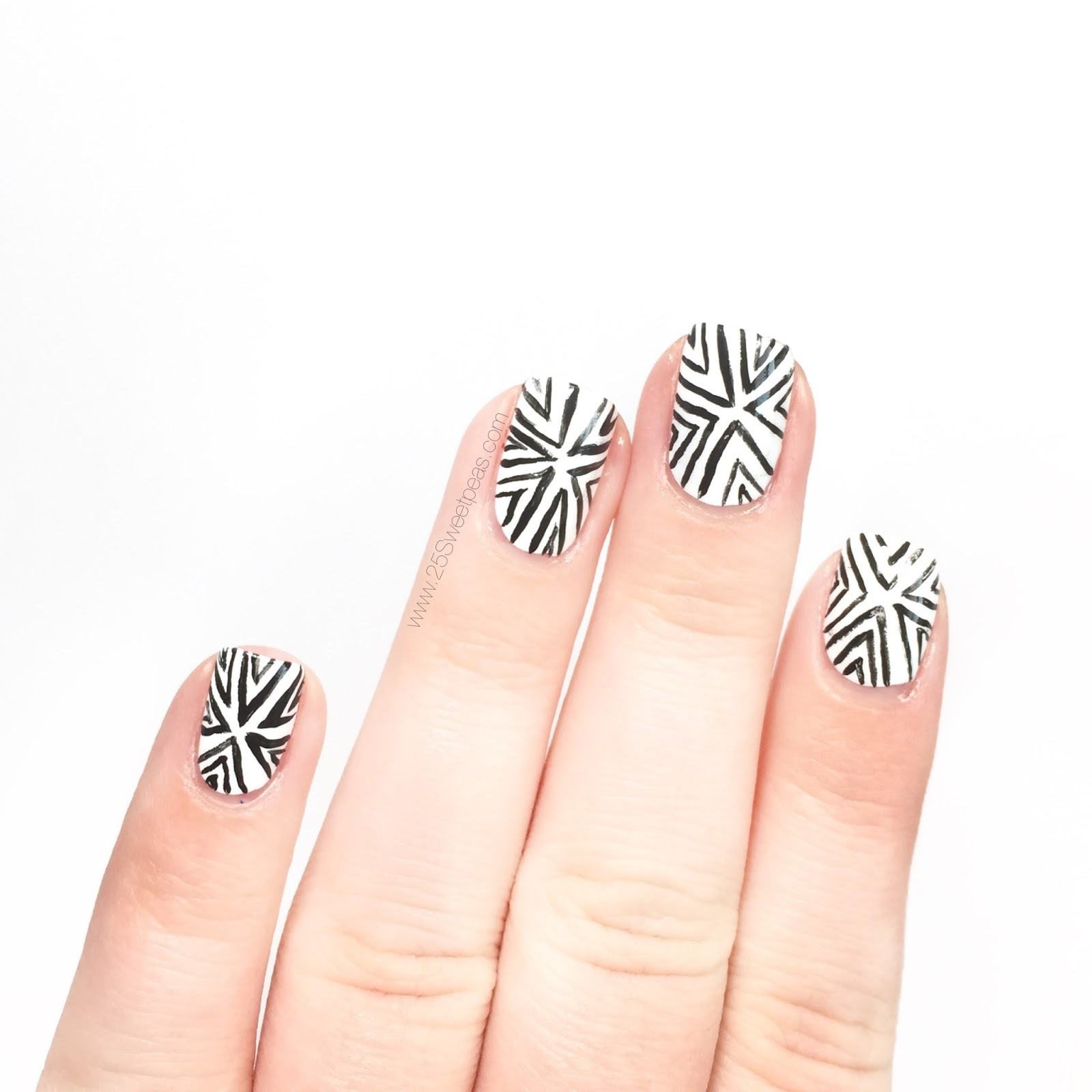 Black and White Nails