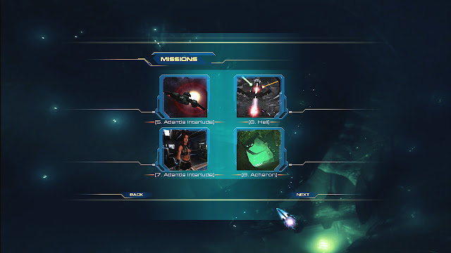 Unreal 2 missions menu