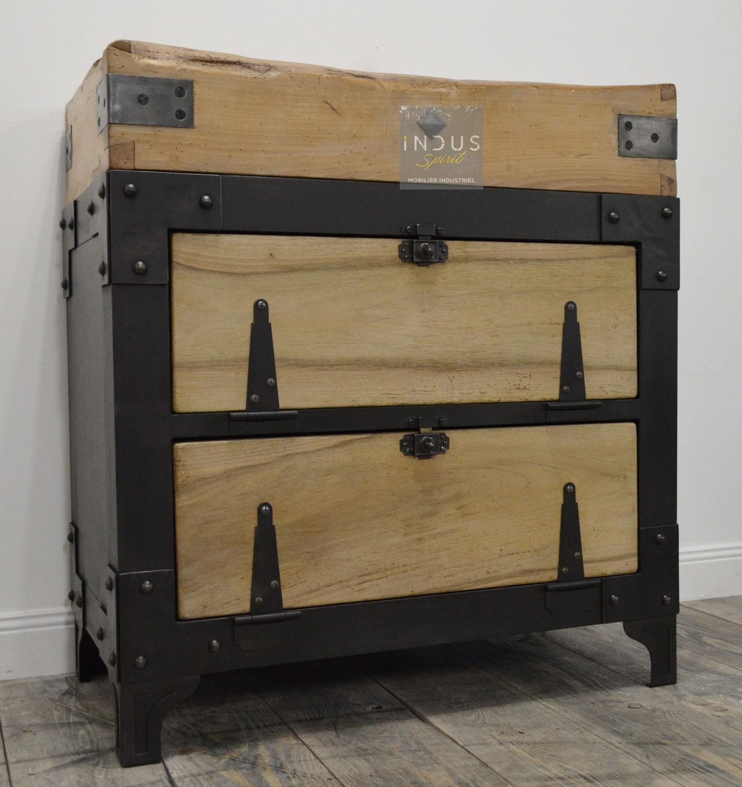 Meuble industriel d coration industrielle meuble de for Meuble facon industriel