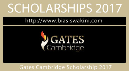 Gates Cambridge Scholarship 2017