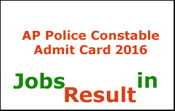 AP Police Constable Admit Card 2016