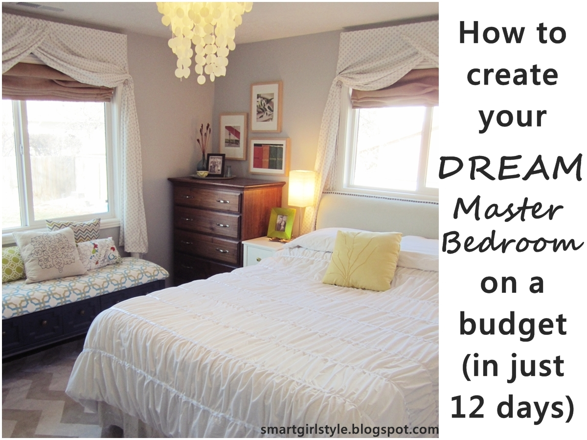 Smartgirlstyle master bedroom makeover putting it all Tiny room makeover
