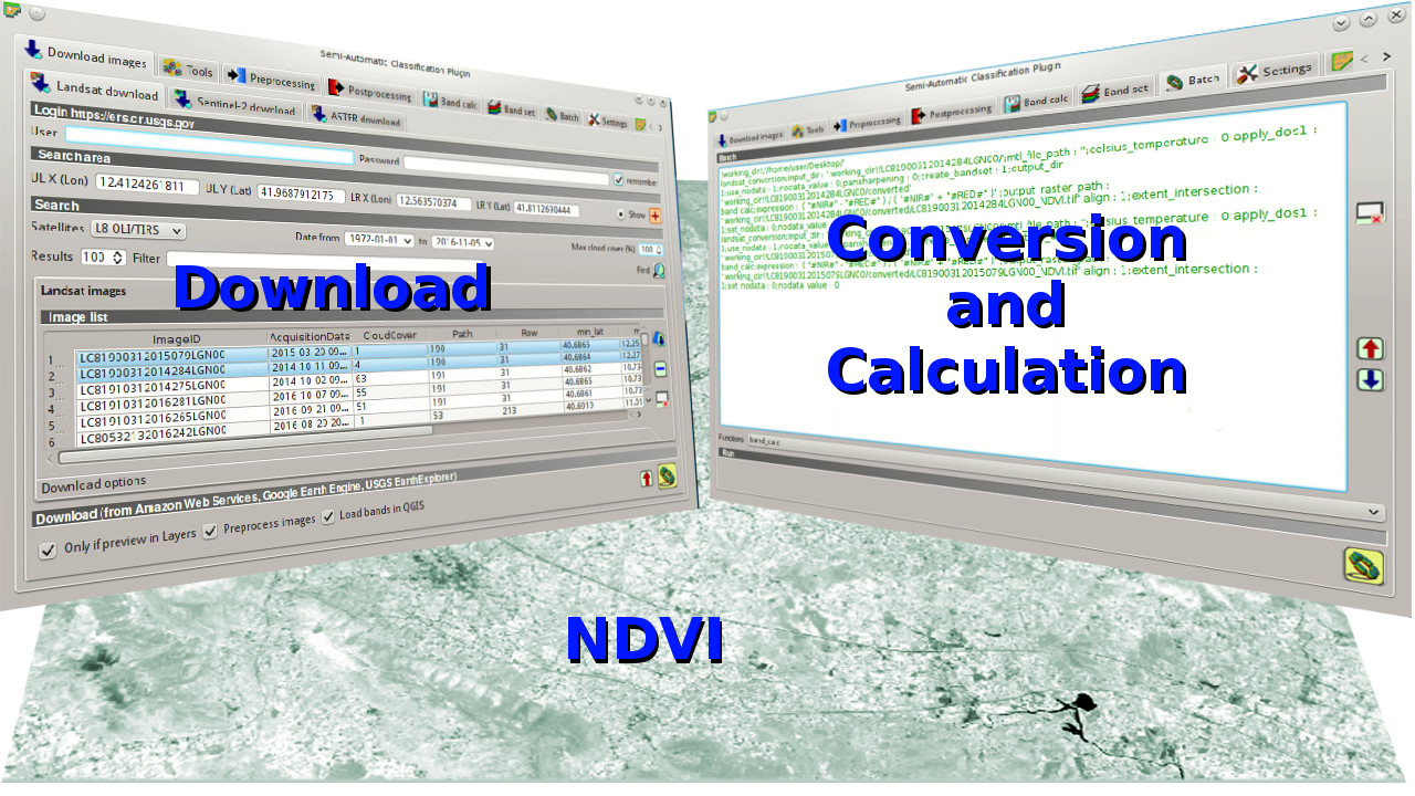 From GIS to Remote Sensing: From Image Download to NDVI