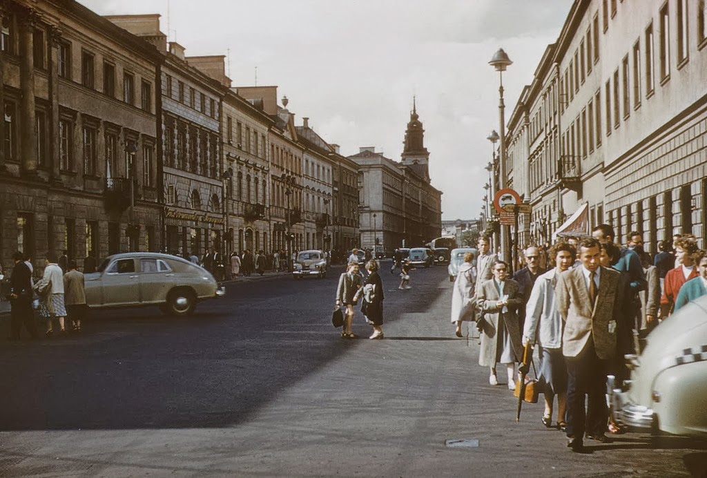 Colour Photos Of Warsaw Poland In 1958 Vintage Everyday