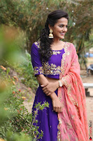 Actress Shraddha Srinath in Purple Chania Choli Cute Pics ~  Exclusive 36.jpg
