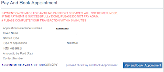 book appointment for passport