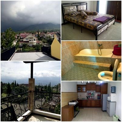 fasilitas dan kamar villa rose kota batu