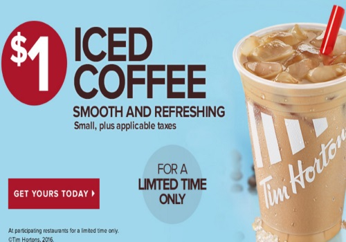 Tim Hortons Iced Coffee $1