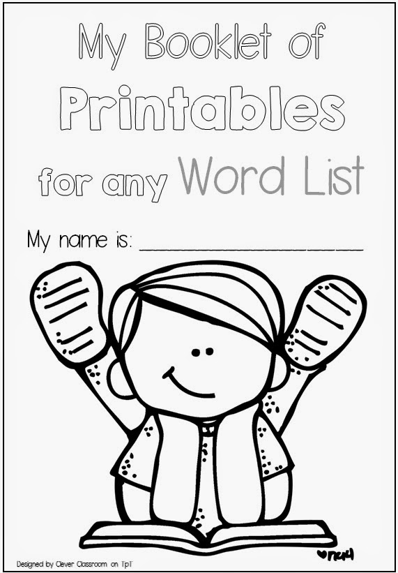 Clever Classroom: Printables for any Word List