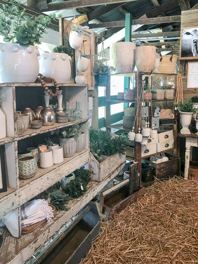 Styled vintage market booth