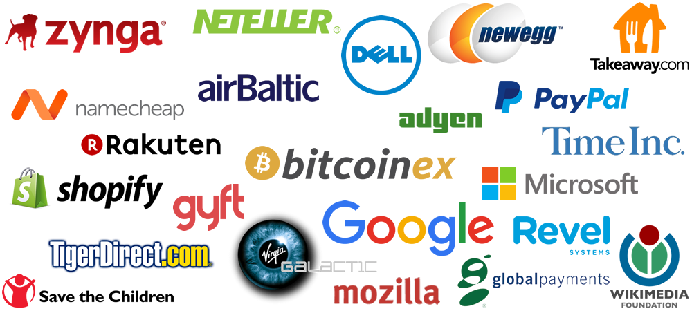 list of companies accepting bitcoins