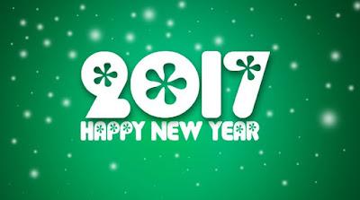 Gambar Ucapan Selamat Tahun Baru 2017 Unik Terbaru Happy New Year Wallpaper Hijau