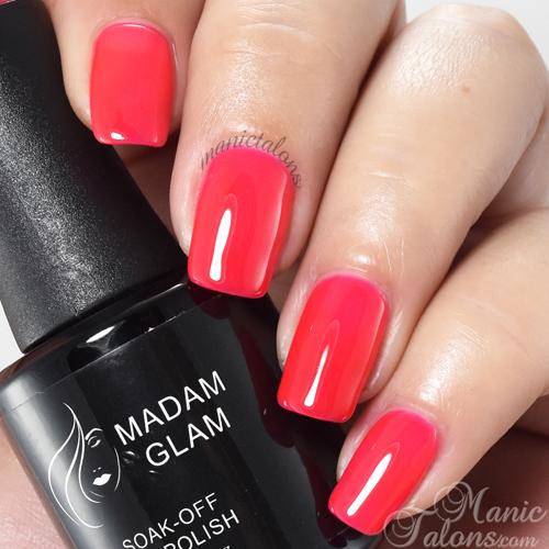 Madam Glam Gel Polish Strawberry Infused Pink Swatch