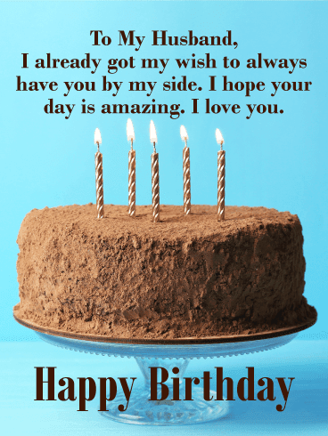 Send this Stunning Happy Birthday Wishes Card for Husband