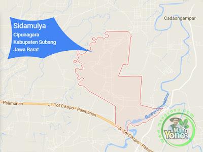 PETA :  Desa Sidamulya, Kecamatan Cipunagara