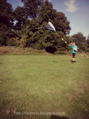 Kids kite flying