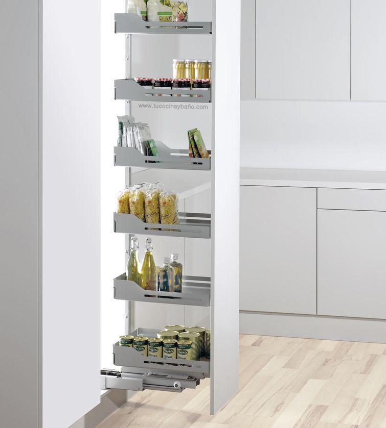 Despensa extraible y giratoria tu cocina y ba o - Mueble despensa cocina ...