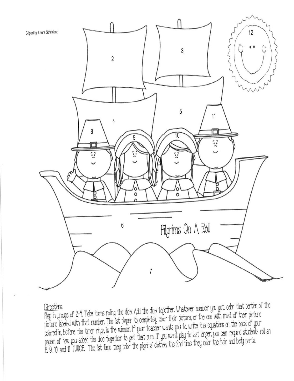 Homeschool Parent Mayflower Addition Game