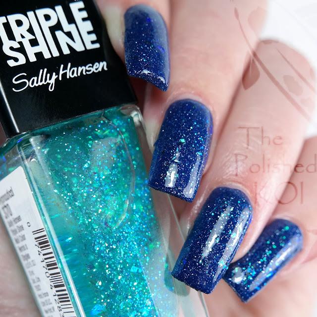 Zoya Sunshine ; mermaid nail art