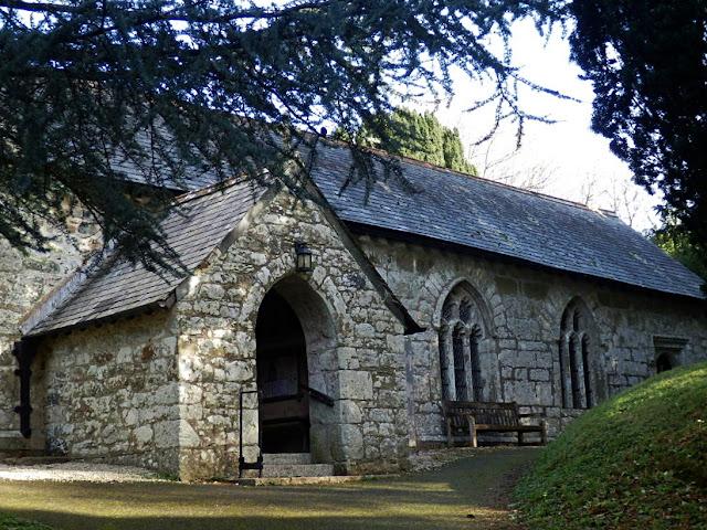 Side entrance of St.Mewan church, St.Mewan, St.Austell, Cornwall