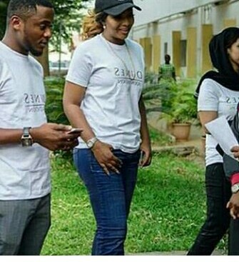 Ubi Franklin and Lilian Esoro seen together