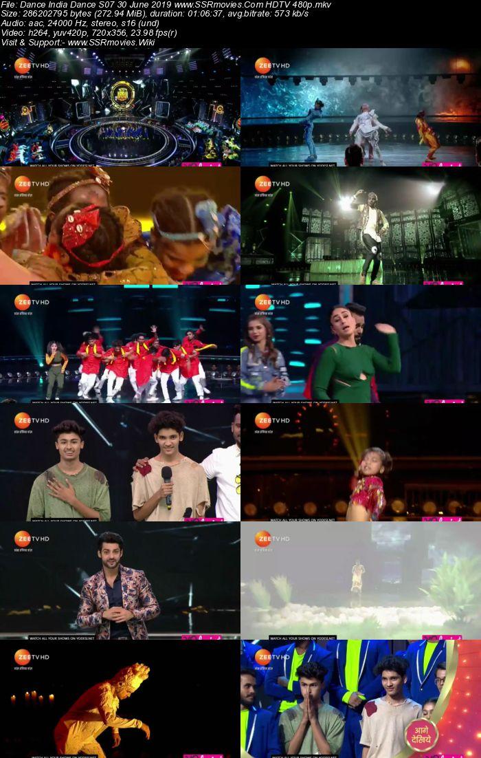 Dance India Dance S07 30 June 2019 HDTV 480p Full Show Download