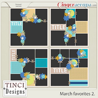Creative Team, Annemarie, for GingerScraps – Buffet Goodies for March (Save 50%) - Fresh Air - Digital Scrapbooking Kit by Ponytails Designs and March Favorites 2, Tinci Designs and Coordinating Freebie