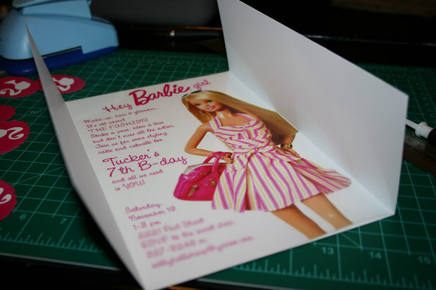 Style Fly Barbie Party Invitations