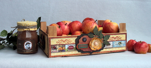 Apple Tray Alter by Ulrika Wandler using BoBunny Farmers Market Collection