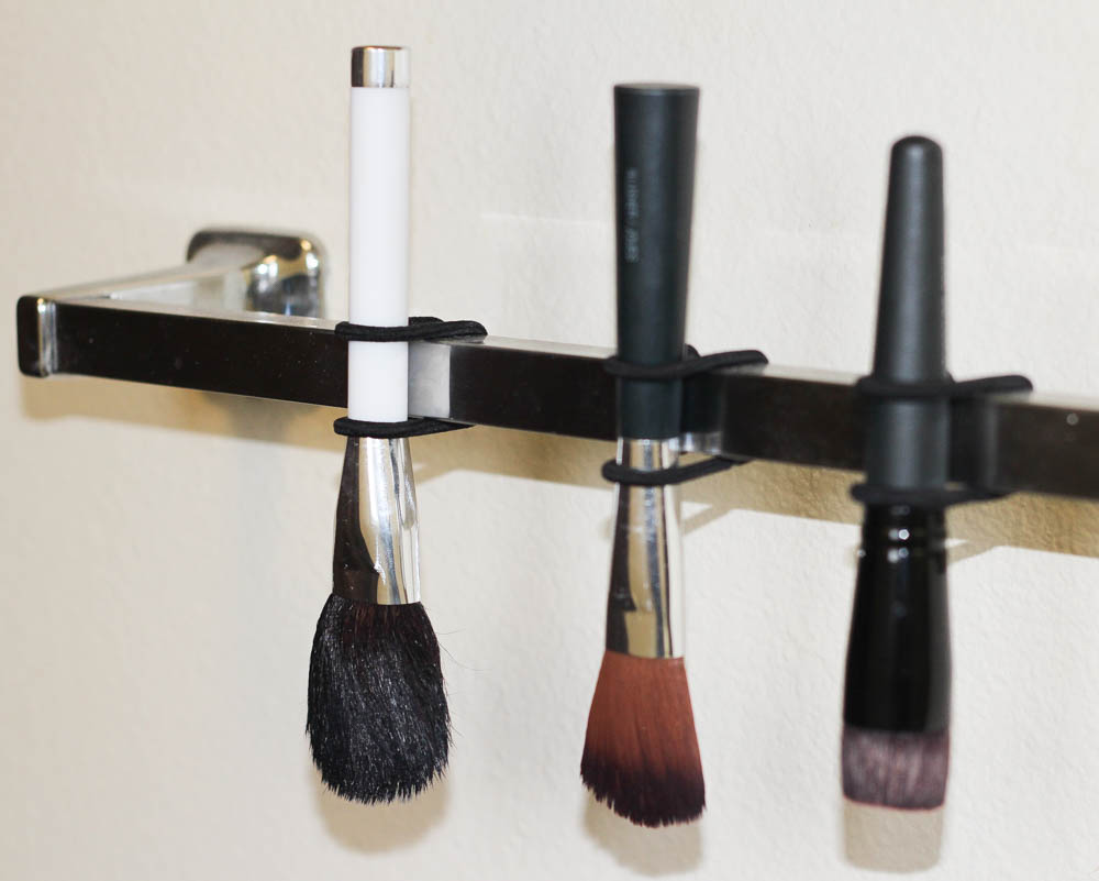 Easy trick for drying your makeup brushes