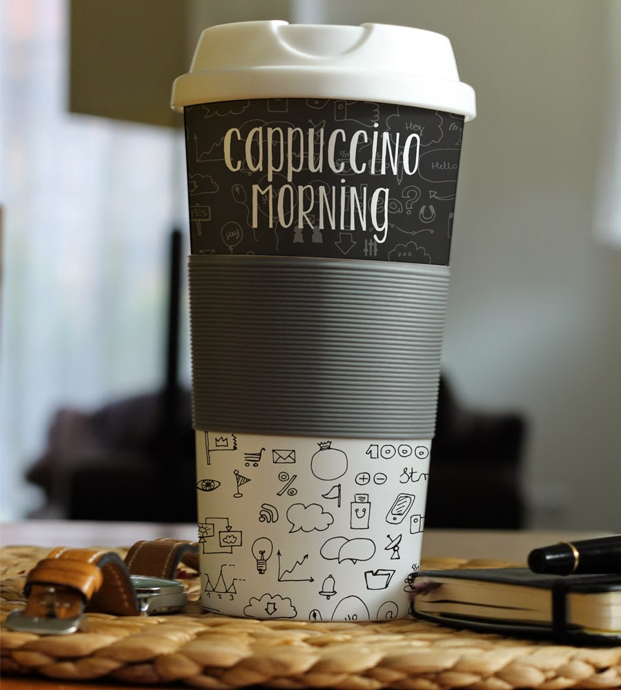 Photorealistic Cup Mockup PSD