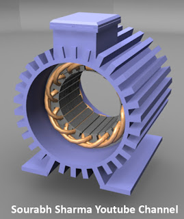induction motor stator with winding