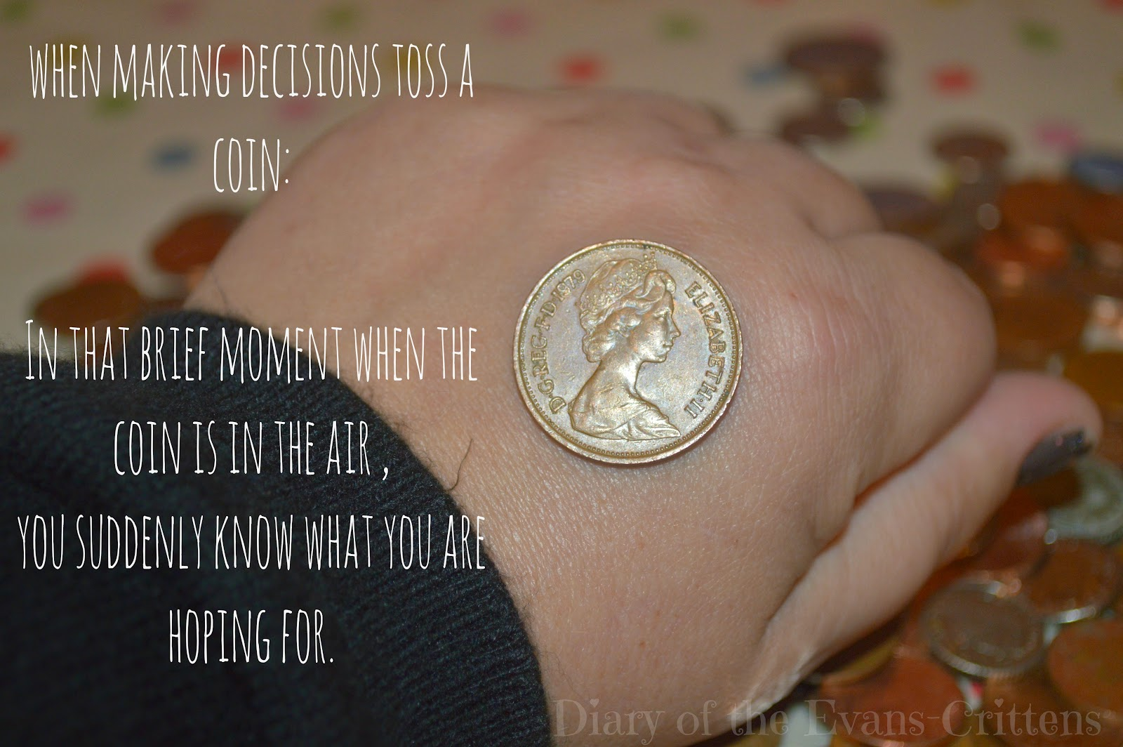 Tossing a Coin Quote Making Decisions